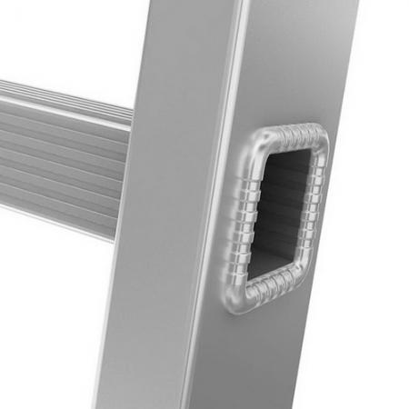 ALUMET Лестница широкая приставная односекционная 17 ступ. (арт. 6117)