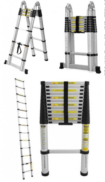 ALUMET Телескопическая лестница 4.1 м TLS 4.1