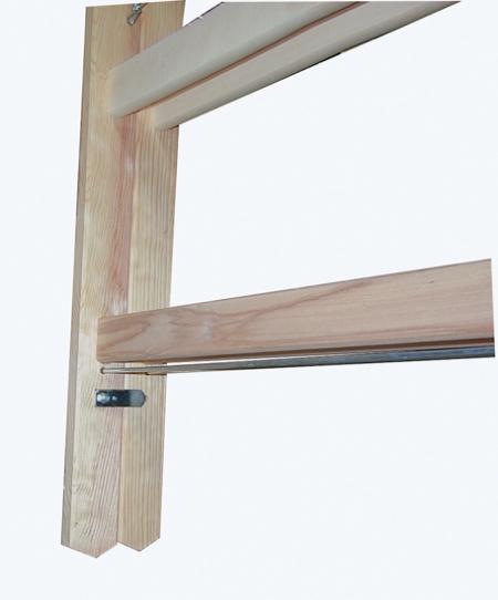 Деревянная лестница-стремянка с перекладинами 2х12 Krause