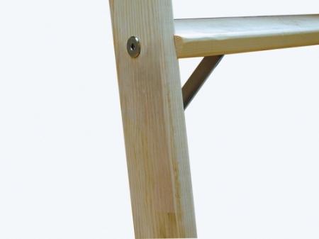 Двусторонняя деревянная лестница-стремянка Krause со ступенями  2Х5 ступ. арт. 818225