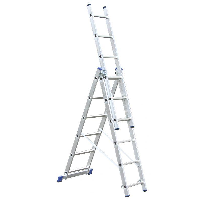 KRAUSE Corda Aлюминиевая лестница с доп. функцией 3Х6 ступ. (арт. 013361)