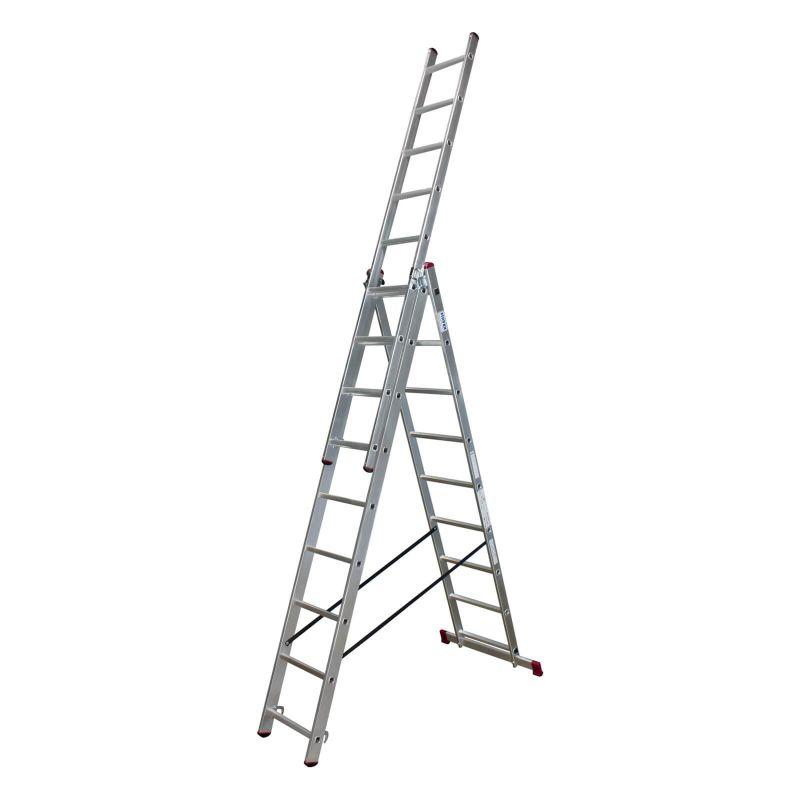 Corda алюминиевая лестница с доп. функцией 3Х8 ступ.
