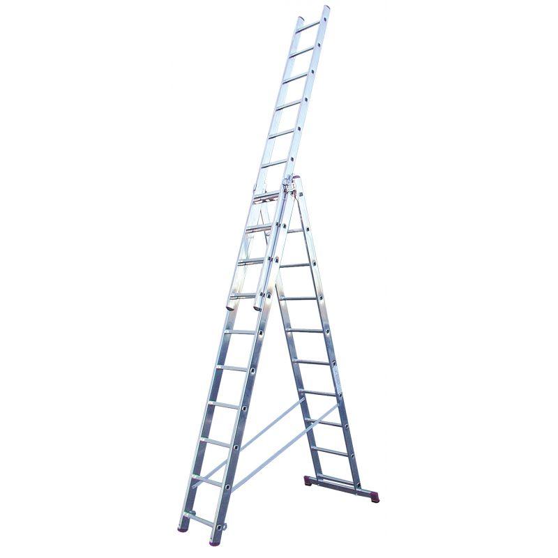KRAUSE Corda Алюминиевая лестница с доп. функцией 3Х10 ступ. (арт. 013408)