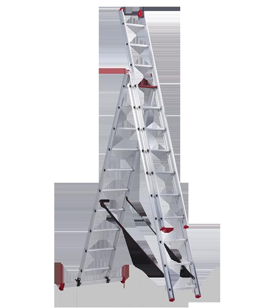 All Round трехсекционная комбинирована лестница 3Х10