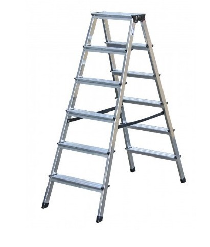 KRAUSE Dopplo Лестница-Стремянка двухсторонняя 2Х6 ступ. (арт. 120359)