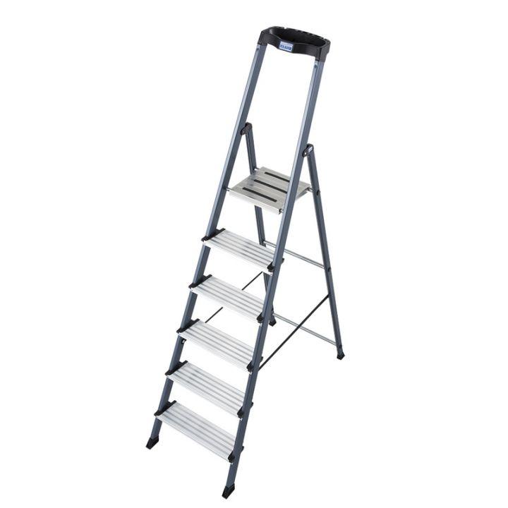 KRAUSE Securo Анодированная стремянка с широкими ступенями 6 ступ. (арт. 126443)