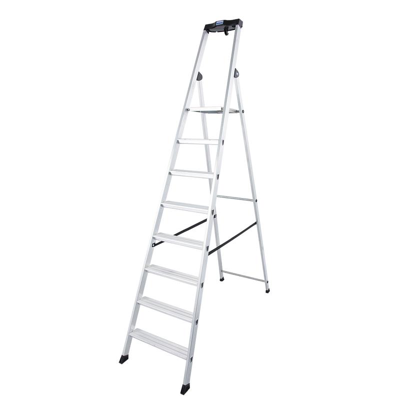 Solido алюминиевая стремянка со ступенями 8 ступ.