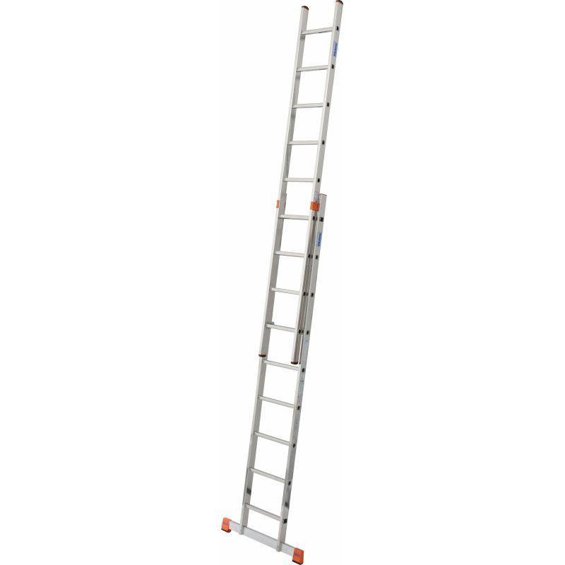 KRAUSE Fabilo Двухсекционная выдвижная лестница 2Х15 ступ. (арт. 120564)
