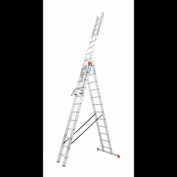 KRAUSE Tribilo Универсальная 3х-секционная лестница 3x10 с доп. функ. (арт. 129765)