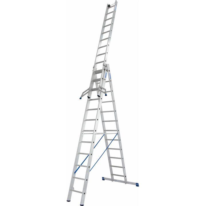 KRAUSE Stabilo Профессиональная 3х-секционная лестница 3Х14 ступ. (арт. 133724)