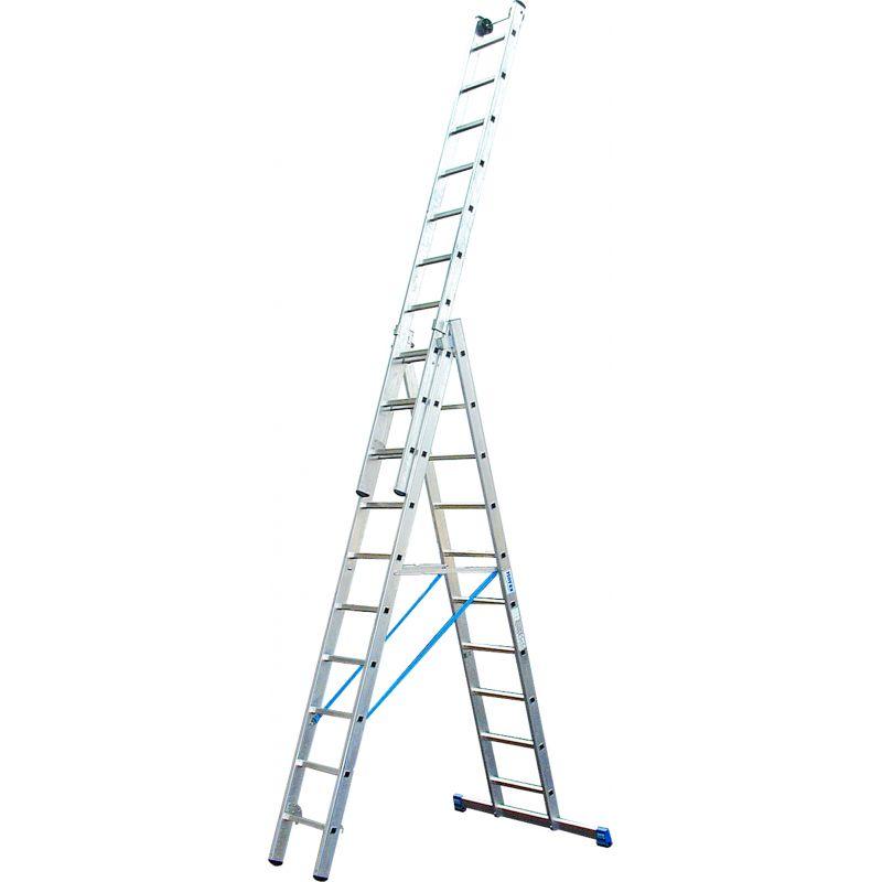 KRAUSE Stabilo Профессиональная 3-секционная лестница с доп.функцией 3Х10 ступ. (арт. 133762)