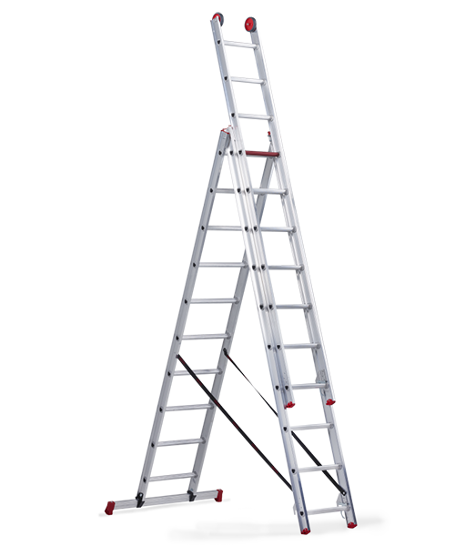 ALTREX All Round Лестница трехсекционная комбинированая 3Х9 ступ. (арт. 108519)