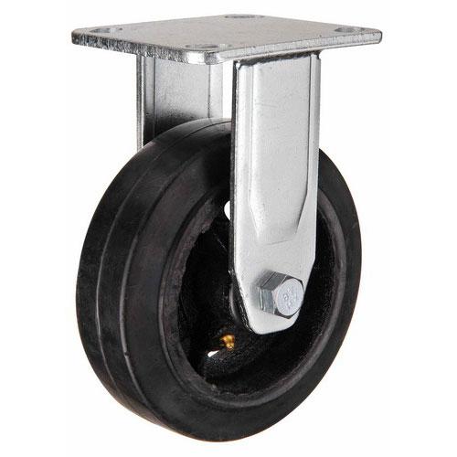 Колесо большегрузное неповоротное, обрезиненное серии FCD - 160 мм. (арт. 550150)