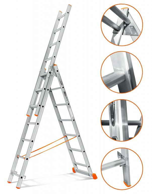 Трехсекционная лестница Эйфель
