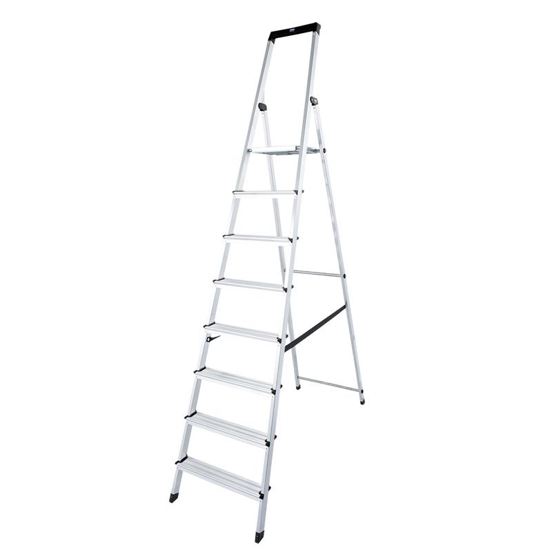 Solidy свободностоящая алюминиевая стремянка 8 ступ.