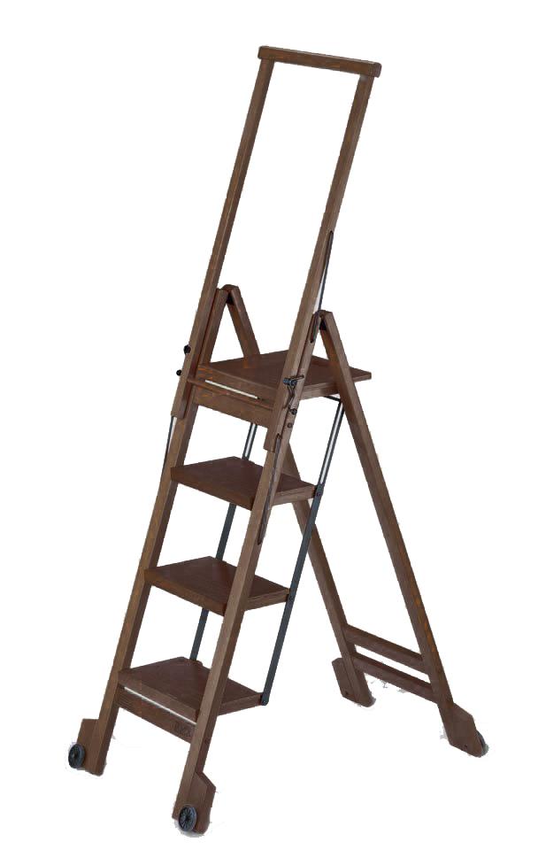 Стул-стремянка деревянная Biblio-4, цвет венге (арт. 914VE)