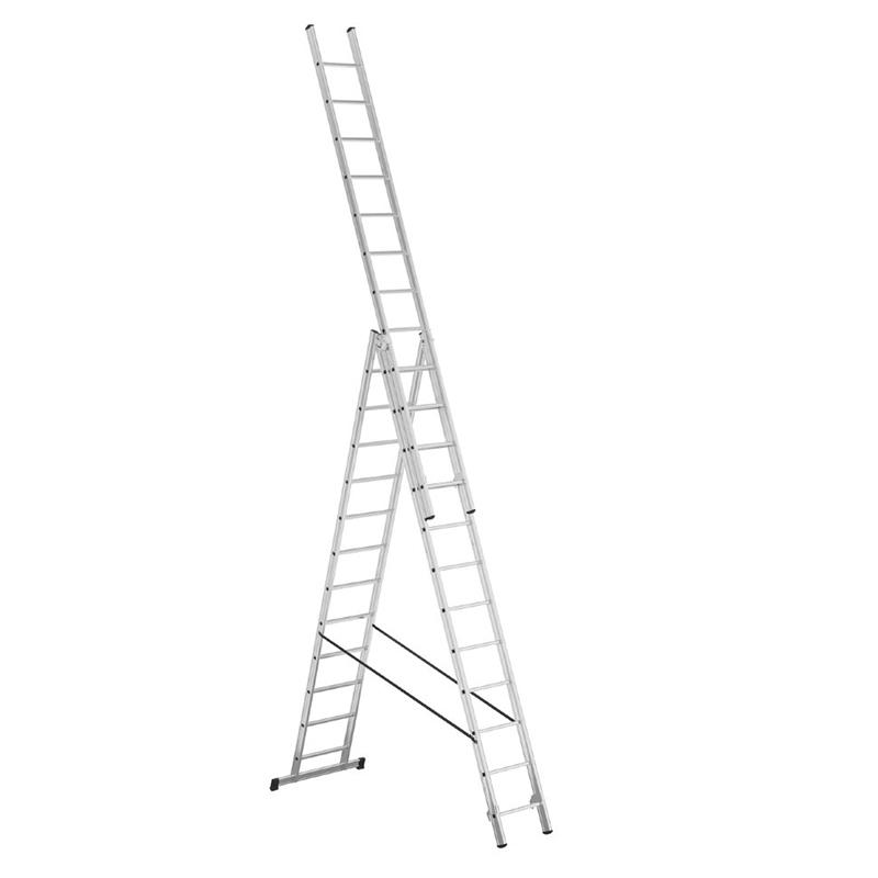Алюминиевая 3-секционная лестница-стремянка Alpos 3Х12