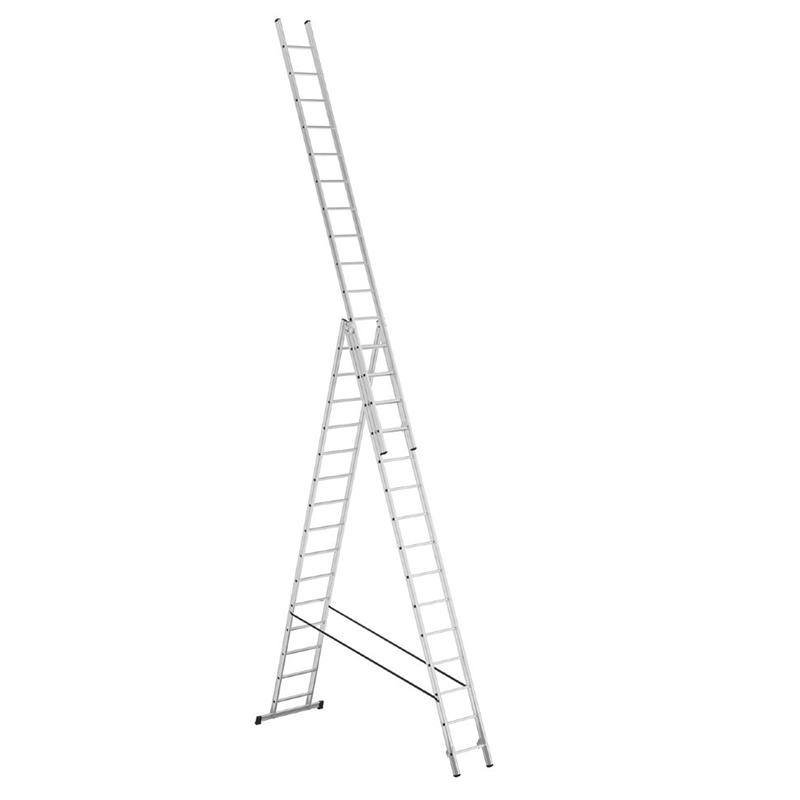 ALPOS Алюминиевая 3-секционная лестница-стремянка 3Х15 ступ. (арт. 3815)