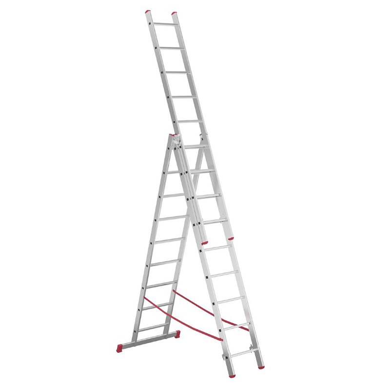 Алюминиевая 3-секционная лестница-стремянка Alpos 3Х9