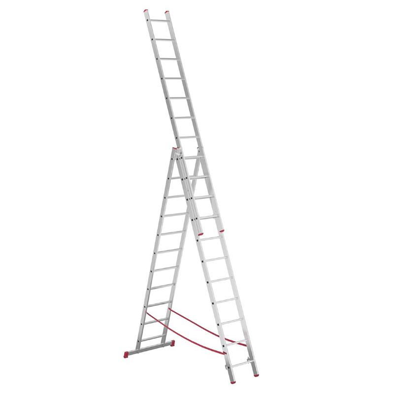 ALPOS Алюминиевая 3-секционная лестница-стремянка Alpos 3Х11 ступ. (арт. 4411)