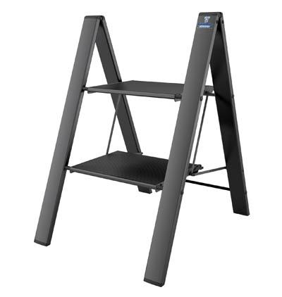 COLOMBO Leonardo Стремянка 2 ступ. (Черная)  (арт. G300A02W B2)