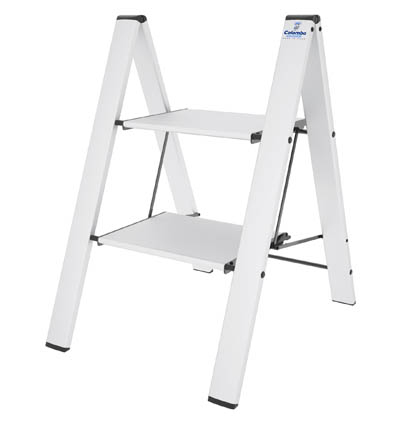 COLOMBO Leonardo Стремянка 2 ступ. (Белая) (арт. G300A02W W2)