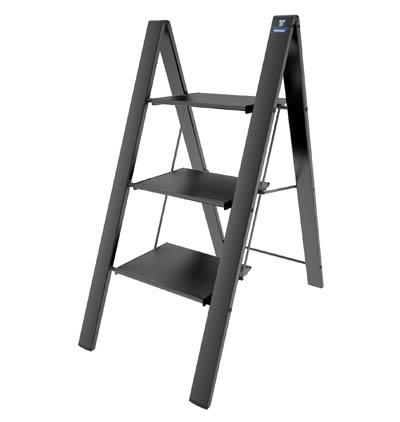 COLOMBO Leonardo Стремянка 3 ступ. (Чёрная) (арт. G300A03W B3)
