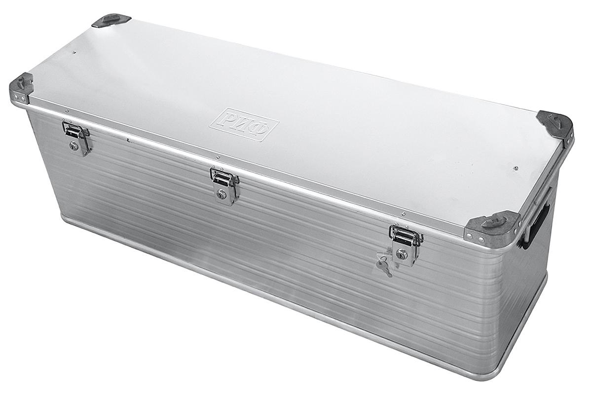 Ящик алюминиевый РИФ L163 усиленный с замком