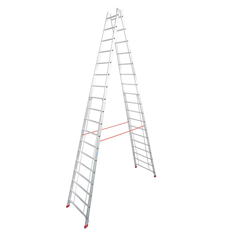 KRAUSE Stabilo Двусторонняя стремянка с перекладинами 2Х18 ступ. (арт. 801753)