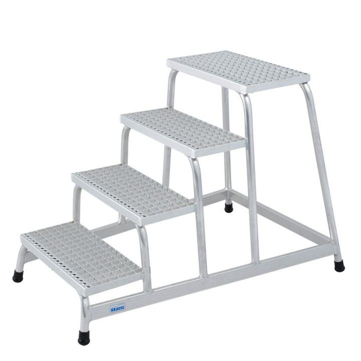 Подставка алюминиевая с решетчатыми ступенями 4 ступ.