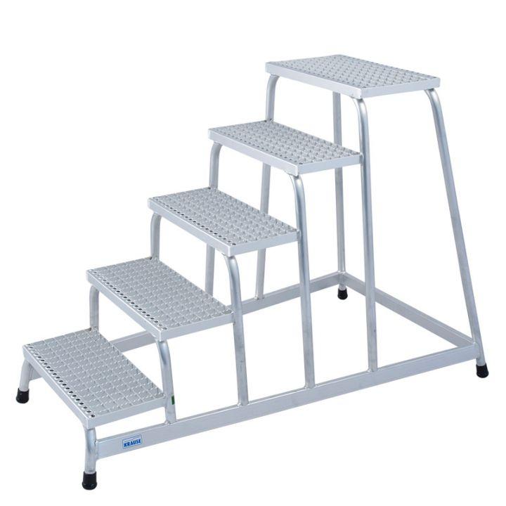 KRAUSE Подставка алюминиевая с решетчатыми ступенями 5 ступ. (арт. 805355)