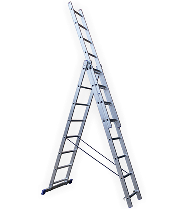 Универсальная трехсекционная лестница 3х8 ступеней СТАИРС