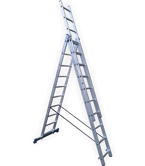 Универсальная трехсекционная лестница 3х9 ступеней СТАИРС