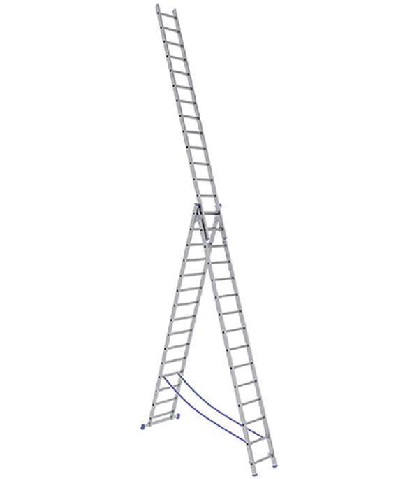 Универсальная трехсекционная лестница 3х14 ступеней СТАИРС
