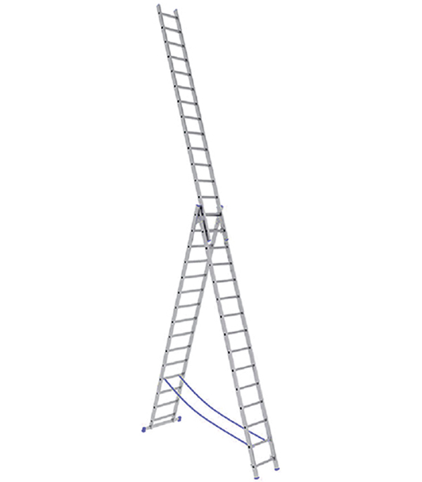 Универсальная трехсекционная лестница с усиленным профилем 3х14 ступеней СТАИРС