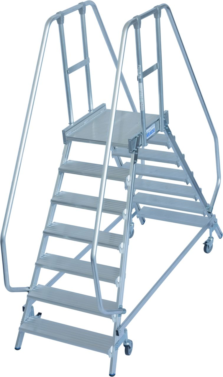 KRAUSE Stabilo Двухсторонняя передвижная лестница с платформой 2Х7 ступ. (арт. 820273)