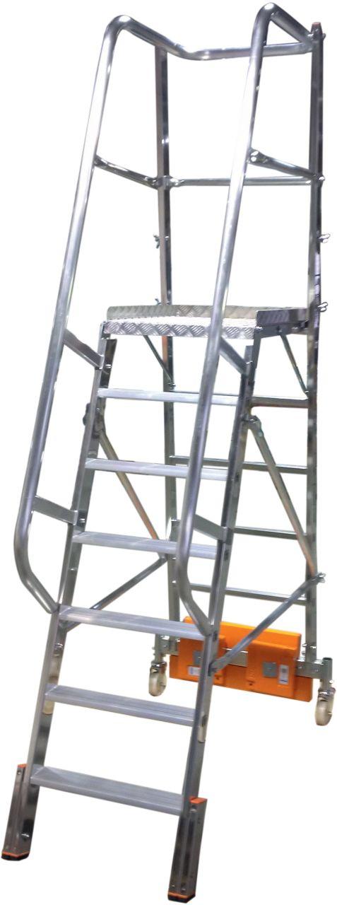 KRAUSE Stabilo Vario Kompakt Лестница с платформой 7 ступ. траверса 750 (арт. 833020)