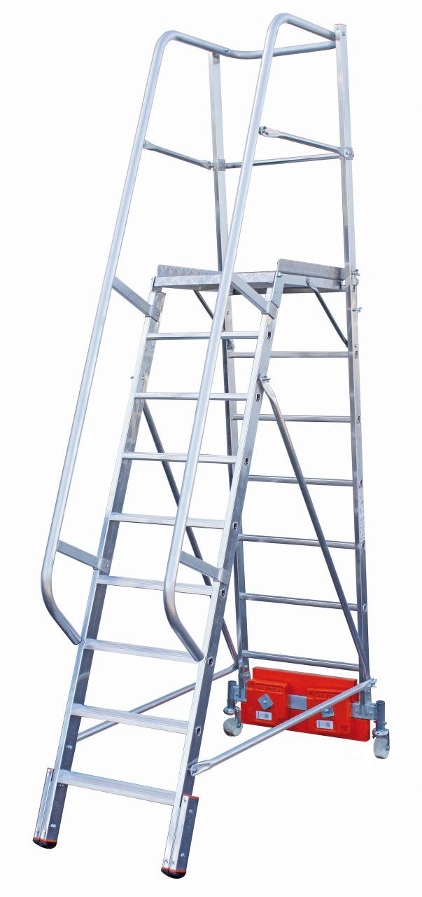 KRAUSE Stabilo Vario Kompakt Лестница с платформой 9 ступ. траверса 750 (арт. 833044)