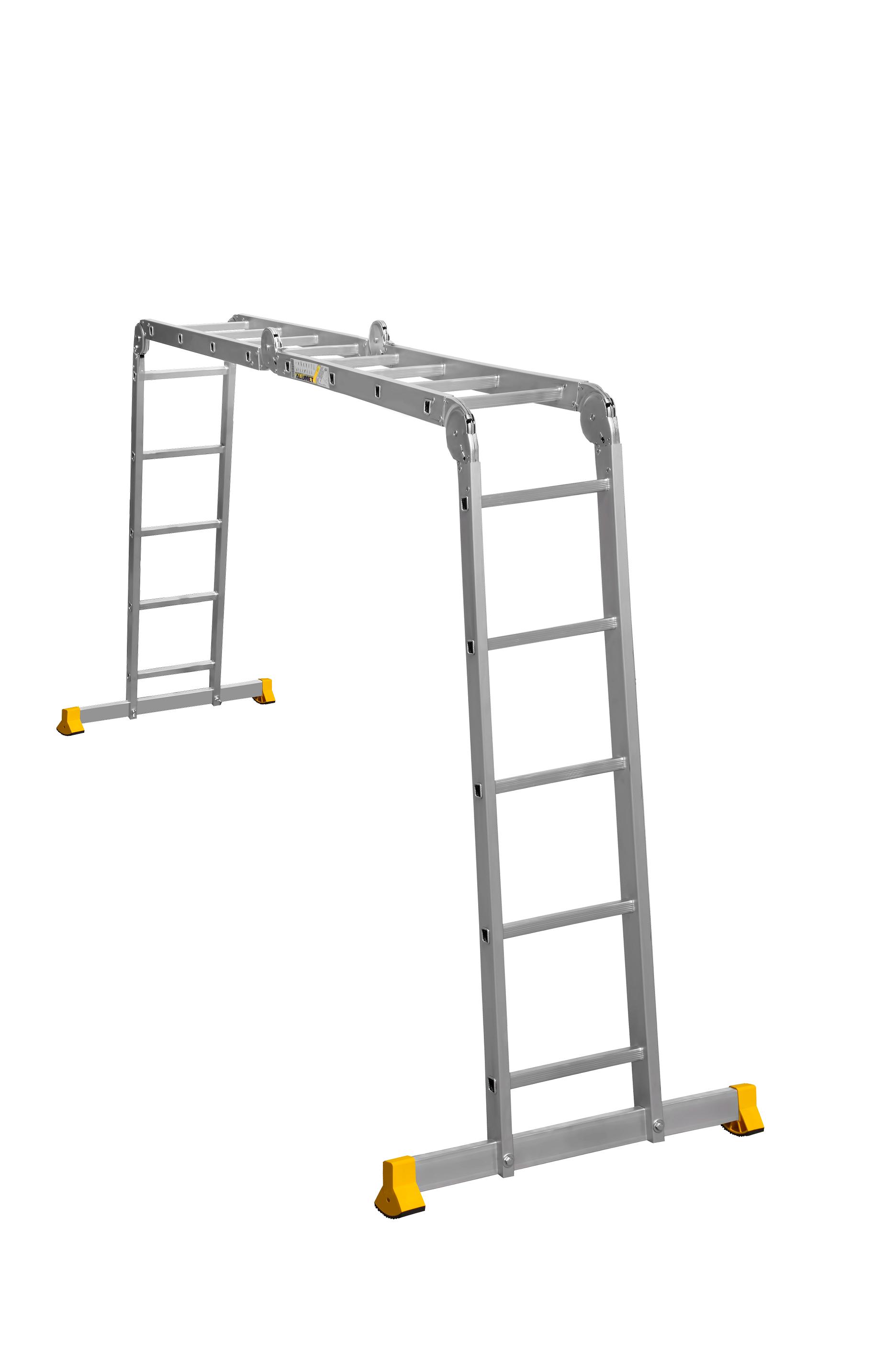 Алюминиевая лестница-трансформер Alumet 2Х4+2Х5