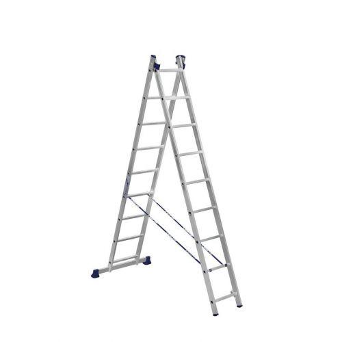 Алюминиевая двухсекционная лестница 2Х10 ступ.