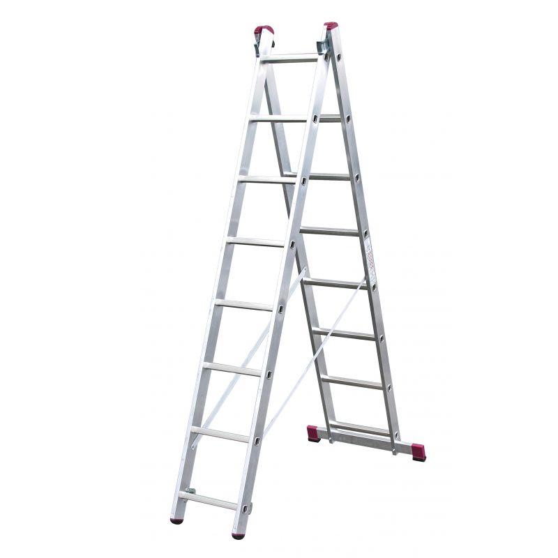 KRAUSE Corda Aлюминиевая двухсторонняя лестница 2Х11 ступ. (арт. 010223)
