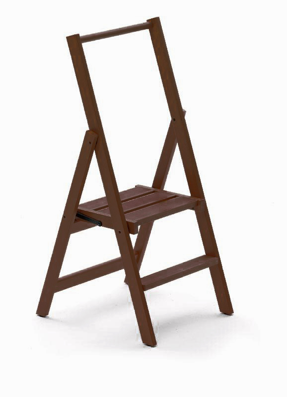 Деревянная стремянка Kimora 2  ступ, Каналетто (арт. 180/2K)