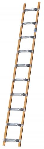 KRAUSE Лестница для крыши деревянная с алюм. ступенями 8 ступ. (арт. 804204)