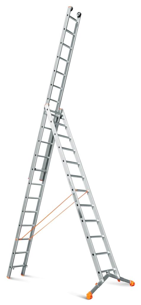 Трехсекционная лестница с раздвижной траверсой Эйфель