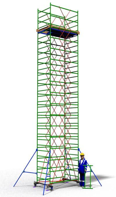 Вышка тура строительная ТТ2000РН (10,10)