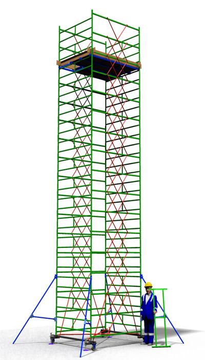 Вышка тура передвижная ТТ2000РШН (10,10)