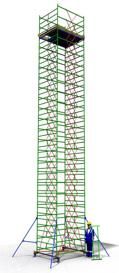 Вышка тура передвижная ТТ2000РШН (13,70)