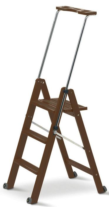 Деревянная лестница-стремянка 3 ступени Tuscania, Каналетто (арт. 170/3К)