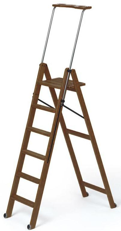 Деревянная лестница-стремянка 6 ступеней Tuscania, Каналетто (арт. 170/6K)