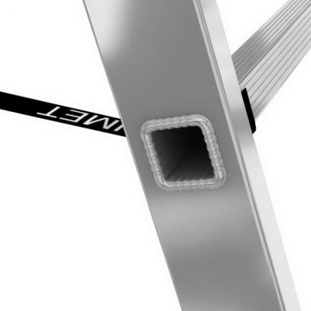 ALUMET Алюминиевая трехсекционная лестница-стремянка 3Х6 ступ. (арт. 5306)